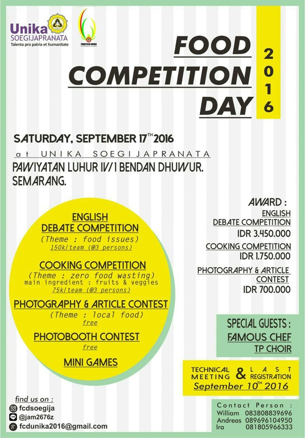Food Competition Day 2016