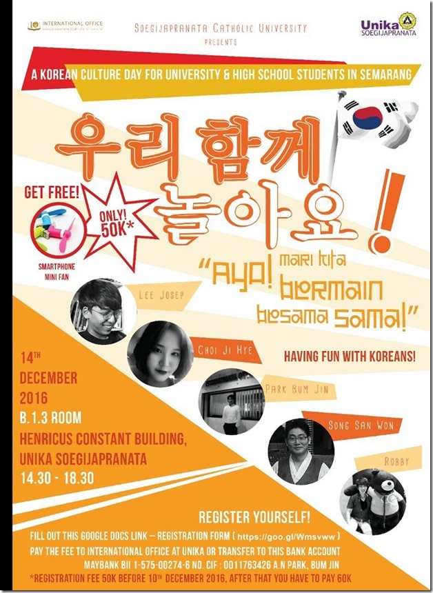 KR 11_12_2016 Korean Culture Day di Unika Soegijapranata