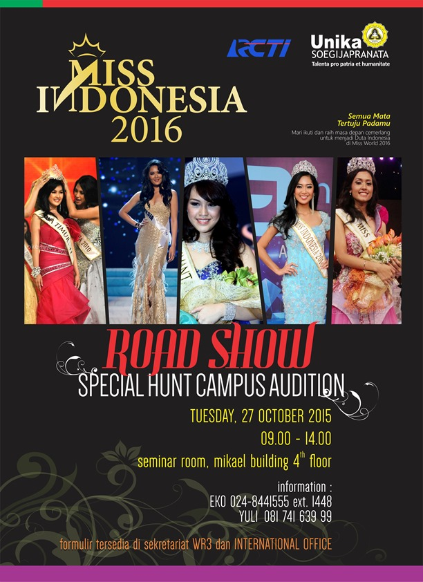 POSTER MISS INDONESIA 2016