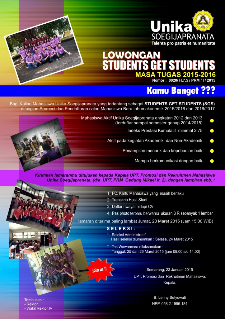 Lowongan STUDENTS GET STUDENTS