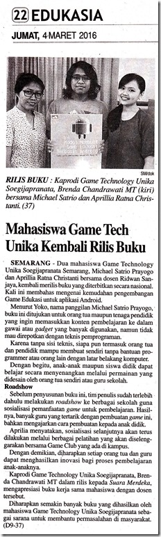 SM 04_03_2016 Mahasiswa Game Tech Rilis Buku