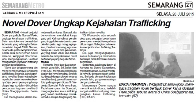 SM 2015_07_28 Novel Dover Ungkap Kejahatan Trafficking