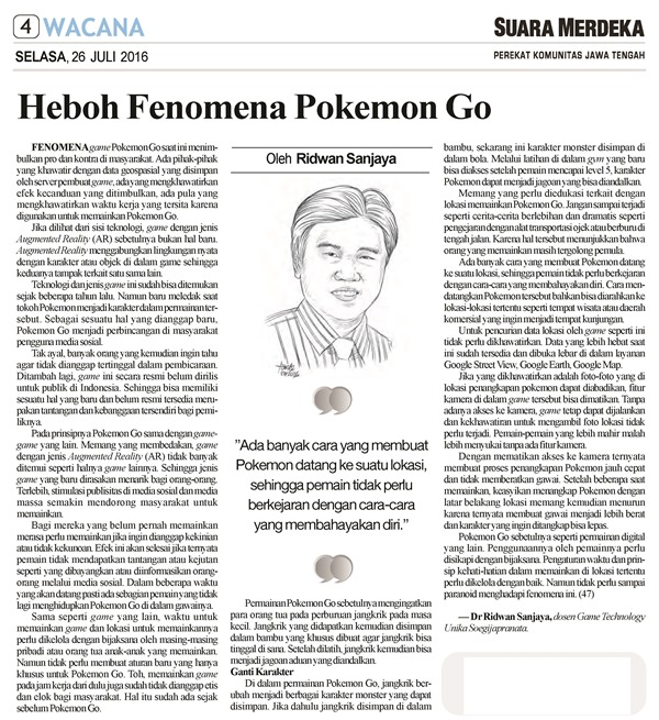 SM 26_07_2016 Heboh Fenomena Pokemon Go