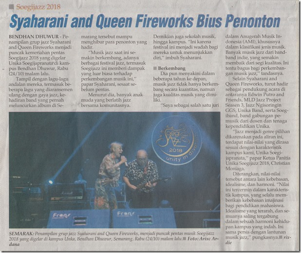 WWS 26_10_2018 Syaharani and Queen Fireworks Bius Penonto