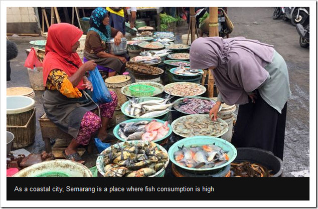 As a coastal city, Semarang is a place where fish consumption is high