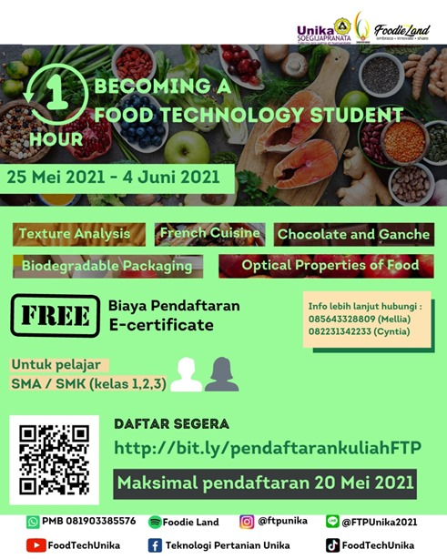 1-HOUR BECOMING FOOD TECHNOLOGY STUDENT